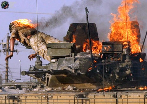 words move, band of brothers, falujha, iraq, tank, burning man