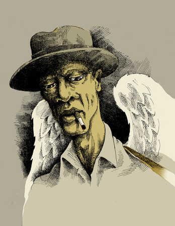 robin-cook-african-american-angel-smoking-cigarette